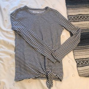 XS French Stripe Madewell Long Sleeve Shirt